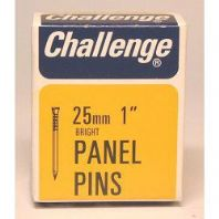 Challenge Panel Pins - Bright Steel (Box Pack) - 25mm